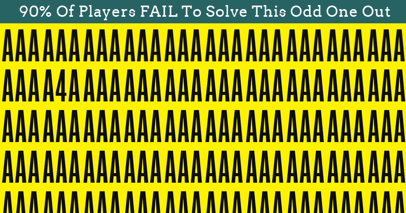 Only 15 People Have Passed This Difficult Odd One Out Test So Far! Will You?