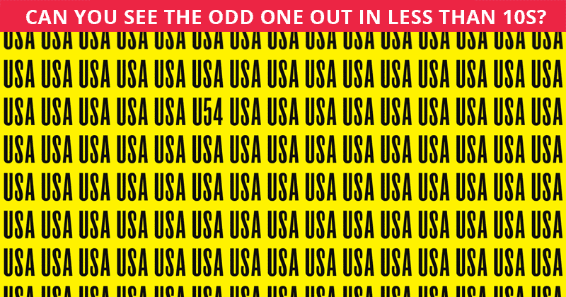 Try This Viral Odd One Out Puzzle To Determine The Sharpness Of Your Vision
