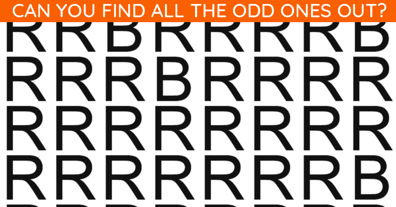 If You Can Pass This Multiple Odd Ones Out Quiz In 30 Seconds, You Have Unique Eyesight