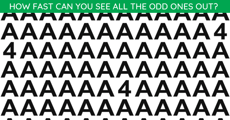 Only People With A High IQ Will Be Able To Best This Multiple Odd Ones Out Visual Test! Can You?