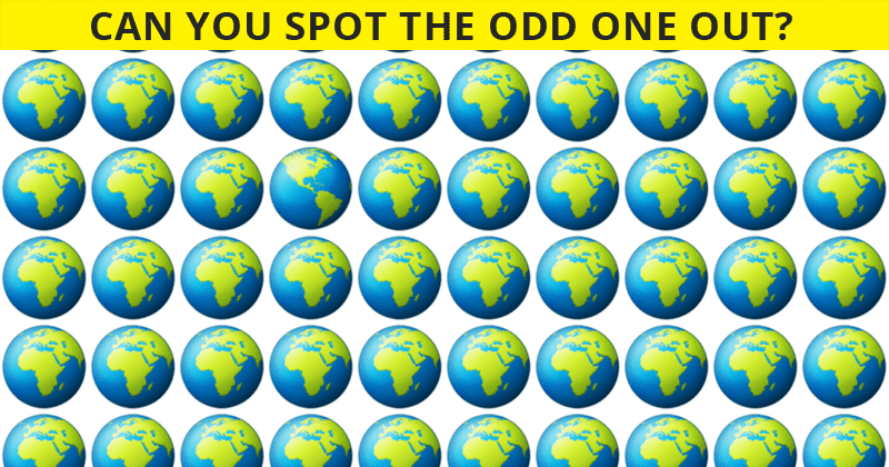 How Quickly Can You Find The Odd One Out In This Visual Test?