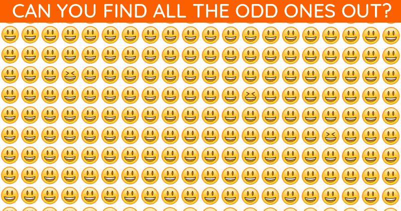 Only About 5% Can Nail This Multiple Odd Ones Out Test! Find Out If Your IQ Is High Enough To Pass This Challenge