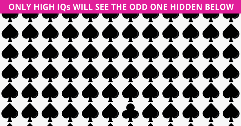 Only 1 In 25 People Can Ace This Difficult Odd One Out Visual Test. How About You?