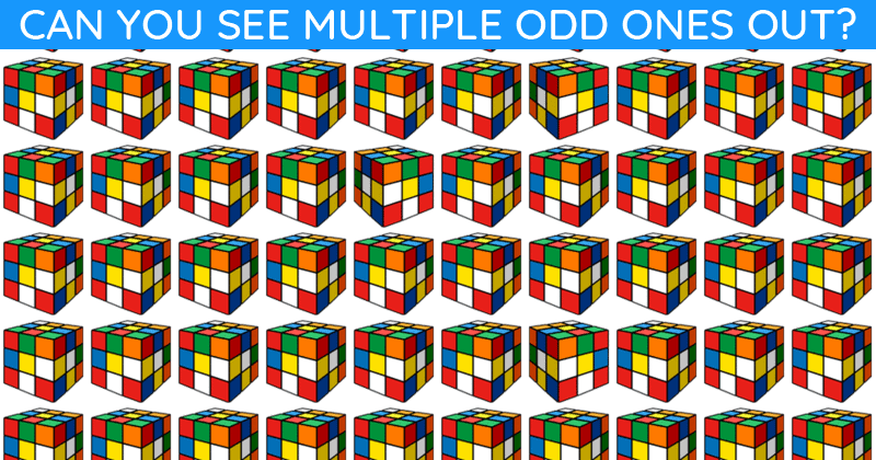 How Fast Can You Find The Multiple Odd Ones Out In This Tough Test?