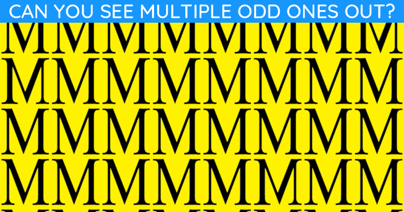 Nobody Can Solve This Test. Can You Spot The Odd One Out Immediately?